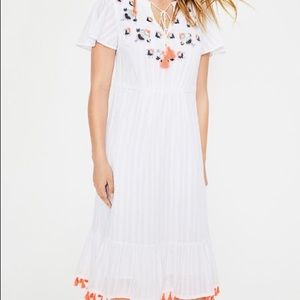 NWT Boden Ivory Evelyn Embroidered Dress
